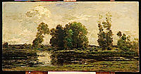 The pond, 1870, daubigny