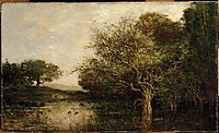 The pond with a herons, 1857, daubigny