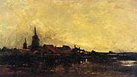 The River Meuse at Dordrecht, 1872, daubigny