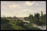 The River Seine at Mantes, c.1856, daubigny