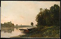 Sunrise, banks of the Oise, 1865, daubigny
