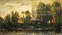 Sunset, Lower Meudon, 1869, daubigny