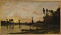 Sunset on the Oise, 1865, daubigny