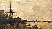 The Themse in Erith, 1866, daubigny
