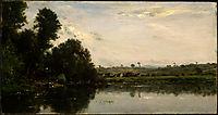 Washerwomen at the Oise River near Valmondois, 1865, daubigny