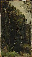 The woods and creek, daubigny