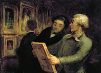 Amateurs in an Exposure, daumier