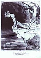 The Beautiful Narcissus, 1842, daumier