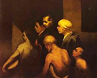 The Beggars, c.1845, daumier