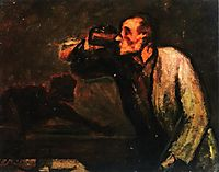 Billiard Players (The Drinker), daumier