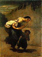 The Burden (The Laundress), 1853, daumier