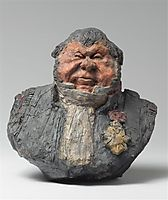 Bust of Hippolyte Abraham, known as Abraham-Dubois , 1833, daumier