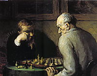 Chess-Players, c.1867, daumier