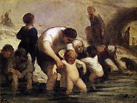 The Children with the bath, daumier