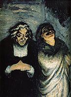 Comedy scene (scene from Molière), daumier