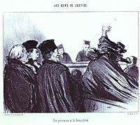The Conclusion of a Speech à la Demosthene, 1848, daumier