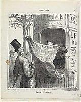 Cuckoo! He-s back, 1870, daumier