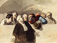 Defense Attorney, c.1865, daumier