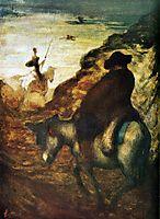 Don Quixote and Sancho Pansa, daumier