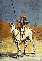 Don Quixote and Sancho Pansa, c.1870, daumier