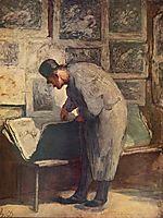 The engraving of Amateurs, c.1860, daumier
