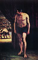 Fighters of circus, daumier