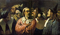 Group of Actors at Mid Body, the Former French Comedy, 1865, daumier