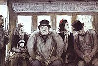In the Omnibus, 1864, daumier