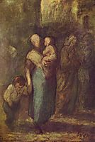 In the Street, 1855, daumier