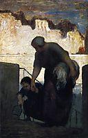 The Laundress, c.1861, daumier