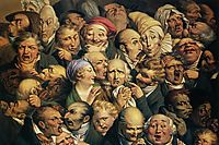 Meeting of thirty-five heads of expression, daumier