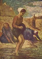 On the Shore, c.1853, daumier