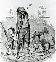 Poet Composing a Classical Eclogue on the Quiet Country Life, 1840, daumier