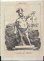 Project to raise a statue to Odilon Nimrod, 1851, daumier