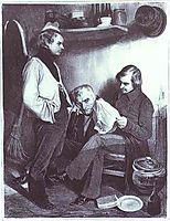 Remembrances of St. Pelagie. (Souvenir de ste Pélagie), 1834, daumier
