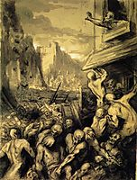 The Riot or Scene of Revolution, or Destruction of Sodome, daumier