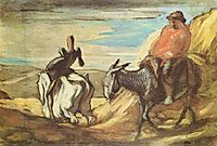 Sancho Panza and Don Quixote in the Mountains, daumier