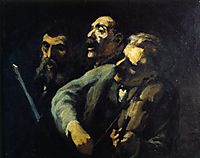 Singers in Front of a Desk, daumier