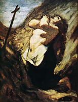 St. Magdalene in the Desert, c.1852, daumier