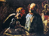 Two Sculptors, 1873, daumier