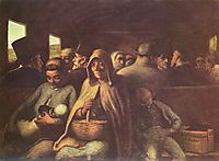 A Wagon of the Third Class, 1862, daumier