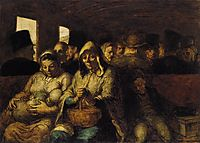 A Wagon of the Third Class, c.1864, daumier