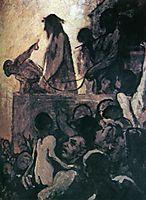 We want Barabbas (Ecce Homo), 1852, daumier