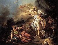 The Combat of Mars and Minerva, 1771, david