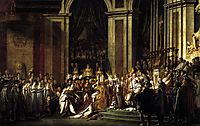 Consecration of the Emperor Napoleon I and Coronation of the Empress Josephine, 1805-1807, david
