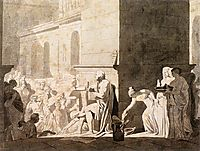 Homer Reciting his Verses to the Greeks, 1794, david