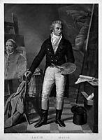 Jacques Louis David In his workshop, david