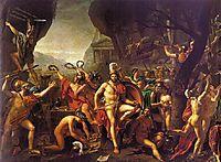 Leonidas at Thermopylae, 1814, david