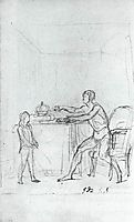 Louis XVI Showing the Constitution to his Son, the Dauphin, 1792, david