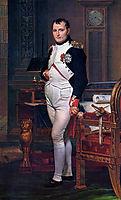 Napoleon Bonaparte in his Study at the Tuileries, 1812, david
